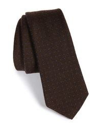 W.r.k. | Brown Dot Silk & Wool Tie for Men | Lyst