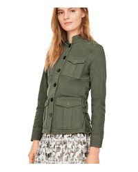 Tory Burch - Green Side-lace Jacket - Lyst