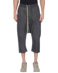Rick Owens - Black 3/4-length Trousers for Men - Lyst