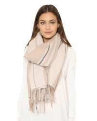 Rag & Bone | Natural Warp Stripe Scarf - Cream | Lyst