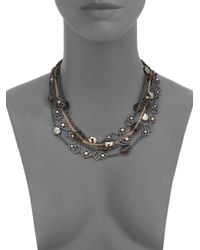 Alexis Bittar | Multicolor Elements Muse D'Ore Smoky Quartz, Pyrite & Crystal Spur Lace Multi-Strand Necklace | Lyst