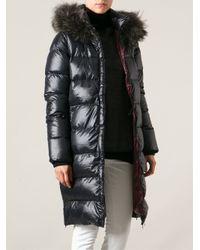 Duvetica - Black Long Padded Jacket - Lyst