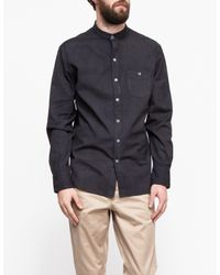 Industry of All Nations - Black Mao Madras Shirt Iron 8 Dips for Men - Lyst