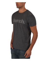 Bench | Gray Pilfer Logo Crew Neck Regular Fit T-shirt for Men | Lyst
