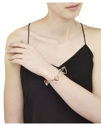Arme De L'Amour | Metallic Ribbon Bracelet With Triangles | Lyst