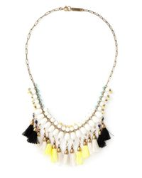 Isabel Marant | White Tassel Necklace | Lyst