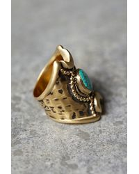 Free People - Blue Crescent Moons Ring - Lyst