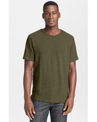 Rag & Bone | Green Slubbed Cotton T-Shirt for Men | Lyst