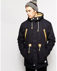 Clwr | Black Parka With Insulation for Men | Lyst