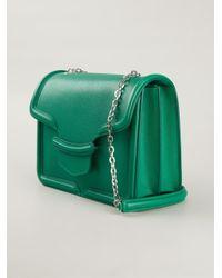 Alexander McQueen - Green Heroine Large Leather Shoulder Bag - Lyst