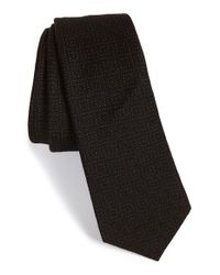 W.r.k. | Black Grid Wool Tie for Men | Lyst