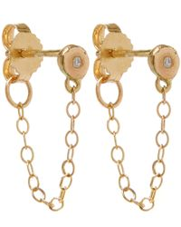 Melissa Joy Manning | Metallic Gold And Diamond Chain Stud Earrings | Lyst