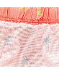 River Island - Pink Palm Tree Print Swim Trunks for Men - Lyst