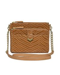 Jack Rogers - Brown Celeste Small Crossbody Weave - Lyst