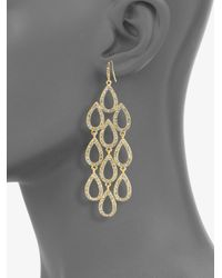 ABS By Allen Schwartz | Metallic Teardrop Cascade Earrings | Lyst