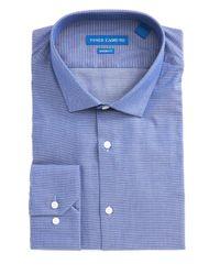 Vince Camuto | Men's Slim-fit Blue Diamond Dobby Dress Shirt for Men | Lyst