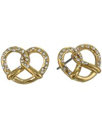 Marc By Marc Jacobs - Metallic Salty Pretzel Studs Earring - Lyst