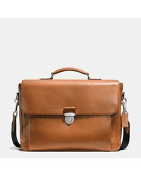 COACH | Brown Metropolitan Briefcase In Sport Calf Leather for Men | Lyst