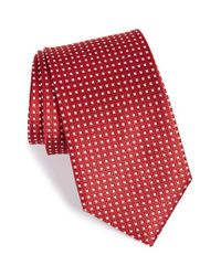 John W. Nordstrom | Red 'beckham' Check Silk Tie for Men | Lyst