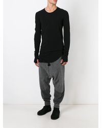 Lost and Found Rooms | Black Drop Crotch Track Pants for Men | Lyst