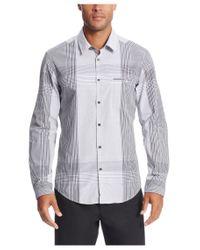 BOSS Green | Black 'bariko' | Regular Fit, Cotton Plaid Button Down Shirt for Men | Lyst