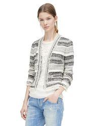 Rebecca Taylor - Gray Artisan Tweed Jacket - Lyst