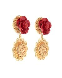 Dolce & Gabbana - Sacred Heart Earrings - Lyst