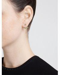 Yvonne Léon - Green 18Kt Yellow Gold And Tsavorite Leaf Stud Earring - Lyst