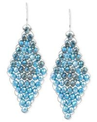 Kenneth Cole - Blue Woven Drop Earrings - Lyst
