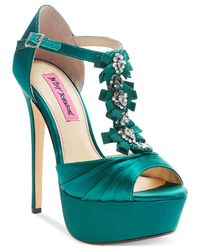 Betsey Johnson | Blue Elizabth Platform Evening Sandals | Lyst