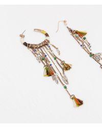 Zara | Metallic Chain And Stone Earrings | Lyst