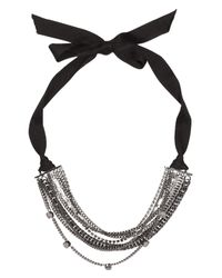 Dorothee Schumacher | Gray Radiant Collier Ribbon | Lyst