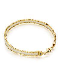 Astley Clarke | White Woven Cord Nugget Bracelet | Lyst