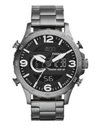 Fossil | Gray 'nate' Ana-digi Watch for Men | Lyst
