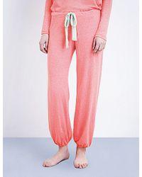 Eberjey - Pink Heather Jersey Pyjama Bottoms - Lyst
