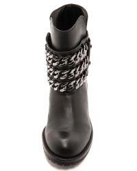 DKNY - Mara Biker Boots with Chain  Blackgunmetal - Lyst