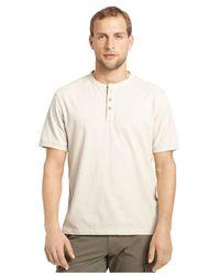 G.H. Bass & Co. - Natural Heathered Henley T-shirt for Men - Lyst