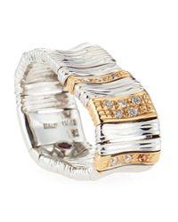 Roberto Coin | Metallic 18k Elephantina Flexible Diamond Ring, White Gold, Size 6.5 | Lyst