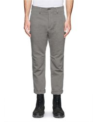 The Viridi-anne - Gray Roll Cuff Crop Pants for Men - Lyst