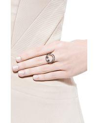 Rosa De La Cruz - Metallic Black Diamond Smile Ring - Lyst