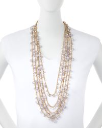 R.j. Graziano - Metallic Multi-strand Beaded Necklace - Lyst