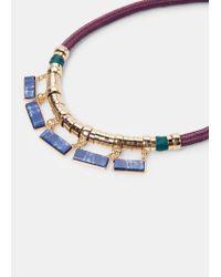 Violeta by Mango | Blue Cord Chocker | Lyst