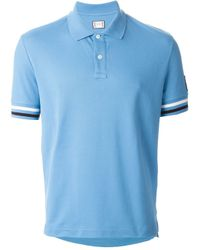 Moncler Gamme Bleu - Blue Logo Embroidered Polo Shirt for Men - Lyst