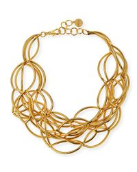 Nest - Metallic Gold-Plated Twisted Collar Necklace - Lyst