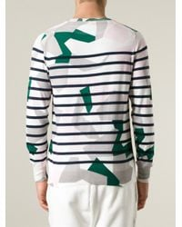Sacai - Multicolor Geometric Striped Sweater for Men - Lyst