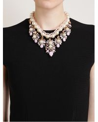 Shourouk - Multicolor Theresa Crystal Pearl and Enamel Beaded Necklace - Lyst