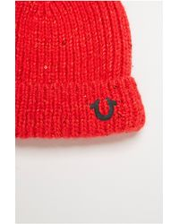True Religion | Red Cashmere Blend Sequin Watchcap | Lyst