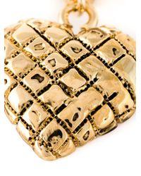 Moschino - Metallic Heart Drop Earrings - Lyst