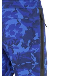 Nike | Blue Camo Printed Cotton Blend Jogging Pants for Men | Lyst