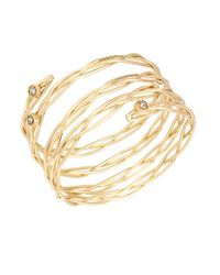Kenneth Cole | Metallic Fringe Worthy Twisted Wire Wrap Cuff | Lyst